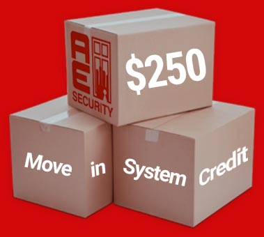 Move-in security system credit